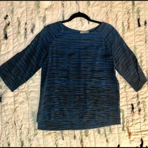 XS, Vince blouse, blue/black pattern